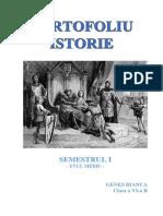 PORTOFOLIU ISTORIE SEMESTRUL I CLASA VI.docx
