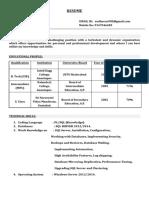 Sudheer SQL DBA Fresher Resume
