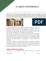 Outsourcing en Logística