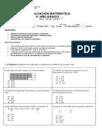 Prueba Fracciones y Número Mixto