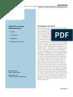 Signal Processing Fundamentals