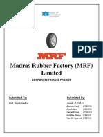 Corporate Finance - MRF Company