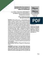 AQUINO; SILVA - A Responsabilidade Ético Social Da Prod de Conhec Na CI