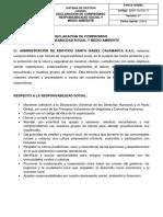 DECLARACION DE COMPROMISO DE RESPONSABILIDAD SOCIAL Y MEDIO AMBIENTE