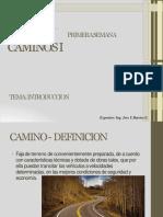 CAMINOS I INTRODUCCION