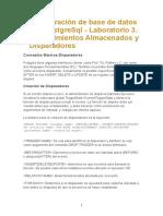 Administración de Base de Datos Con PostgreSql LAB 3