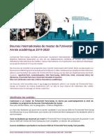 Procedure Bourses Internationales Upsaclay 2019-2020