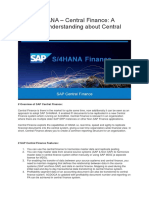 SAP S/4 HANA Central Finance Basic setup and configuration