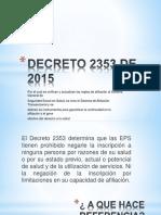 Decreto 2353 de 2015