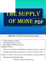 Lecture No. 12 the Supply of Money