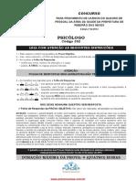 Prova psicologia prefeitura Ribeirão das Neves