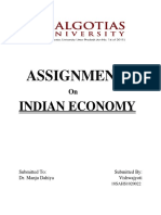 Indian Economy Assignment