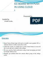 Smart Notice Boardwith Push Notification Using Cloud Computing Single