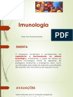 Aula 01 - Introdução - O Sistema Imunológico