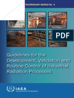 Guideline for the development, validation and routine control of industrial radiation processes