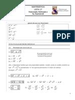 Matemática Lista