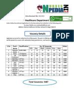 _ Madcom Healthcare Recruitment 2019_ 3487 Post of Staff Nurse and Various Paramedical Vacancy