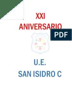 Protocolo San Isidro c Xxi Aniversario