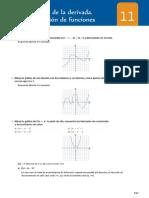 Solucionario Tema 11 Matematicas Santillana 1ºBach - Aplicaciones de las derivadas