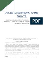 2) DS  006-2014 Modificatoria - Reglamento Ley de Seguridad y Salud en el Trabajo.pdf