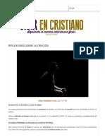 Reflexiones Sobre La Oración _ Vivir en Cristiano
