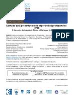 SABI2020 GOTAS CallForPapersExperienciasProfesionales SETIEMBRE19