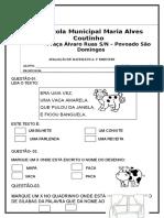 avaliação de portugues