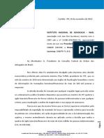 Ofício contra Toffoli
