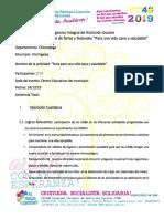 Formato Informe Ferias Festivales Por Una Vida Sana y Saludables 2019.