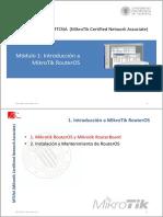 MTCNA - CFP UPV - Módulo 1 - Introducción a Mikrotik RouterOS
