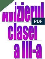 Avizierul Clasei a III-A
