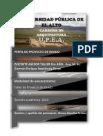 Perfil Del Proyecto de Grado-Caratula