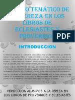 Exposicion Sobre La Pereza