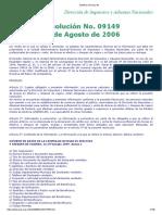 Resolucion 09149 de 2006 - DIAN-diario Oficial