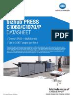 Bizhub Press c1060 c1070 p Datasheet