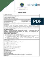 Plano de Ensino 2019 Psicologia I - Curso de Geografia e Historia