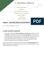 Amon _ Roi Des Dieux Égyptiens – PHARAONIQUE