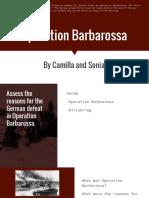 Barbarossa operation
