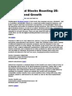 52 Dividend Stocks Boasting 25-Year Growth