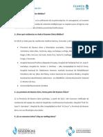 Preguntas y Respuestas Examen Único de Residencias Médicas Argentina.