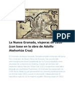 La Nueva Granada, Vísperas de 1810 (Con Base en La Obra deAdolfo Atehortúa Cruz)
