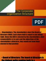 Corporate Organization Structure