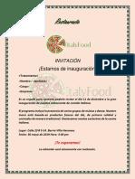 INVITACIÓN Italianfood