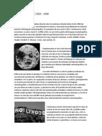 Historia Del Cine 1920-1930.