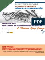 UANCV 03 SEMINARIO Ley de Contrataciones y Reglamento Resumen Otro VLD