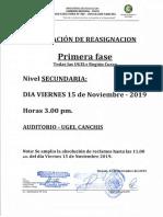 Comunicado Reasignacion Docente i 14112019