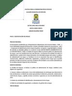 Matriz de Riesgo Alcaldia de Popayan