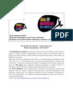 Dia Mundial Da Limpeza - Ituiutaba - MG - 15 Setembro 2018 - Release
