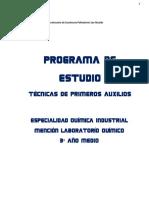 Programa de Tecnicas Primeros Auxilios