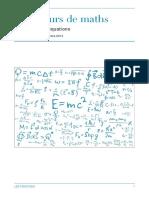 Cours - Équations et inéquations